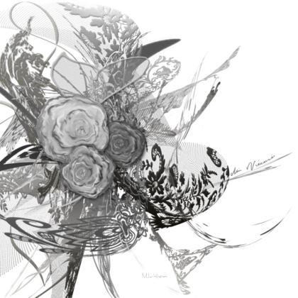 Serving Platter - Uppläggningsfat - 50 shades of lace grey white