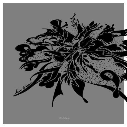 Serving Platter - Uppläggningsfat - Black ink grey
