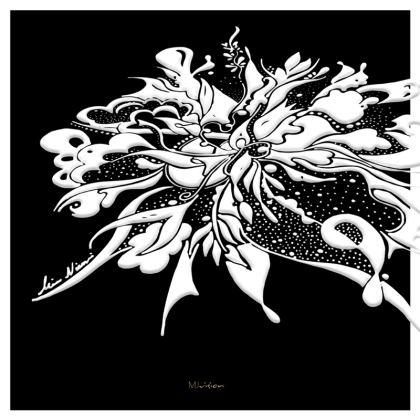 Serving Platter - Uppläggningsfat - White ink black