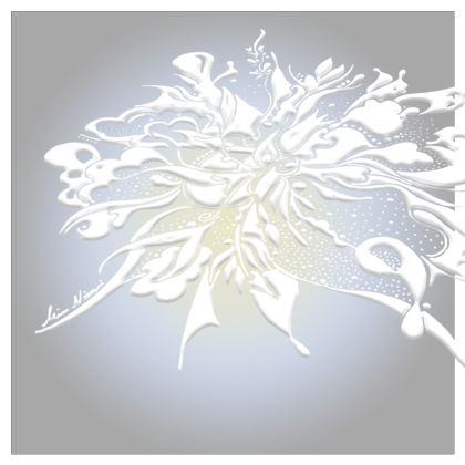 Serving Platter - Uppläggningsfat - White ink grey