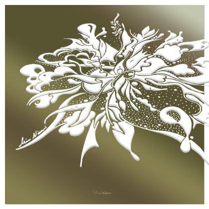 Serving Platter - Uppläggningsfat - White ink green gradient