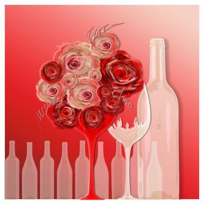 Serving Platter - Uppläggningsfat - Wine red