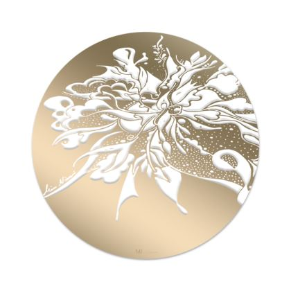 Serving Platter - Uppläggningsfat - White ink beige gradient