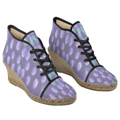 color balls Ladies Wedge Espadrilles