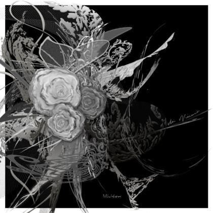 Serving Platter - Uppläggningsfat - 50 shades of lace black