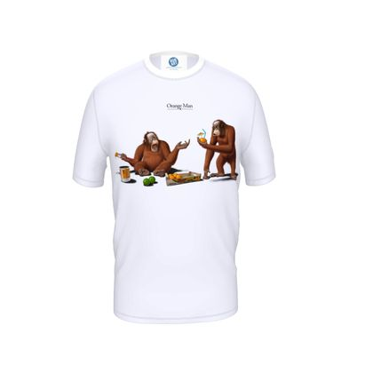 Orange Man ~ Title Animal Behaviour Cut and Sew T Shirt