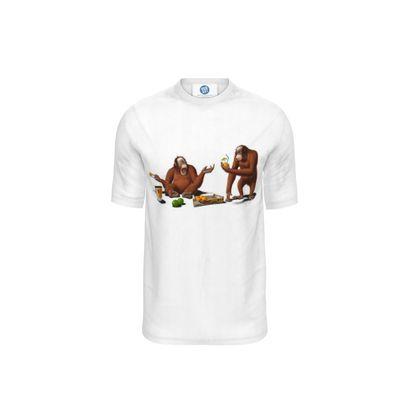 Orange Man ~ Wordless Animal Behaviour Cut and Sew T Shirt