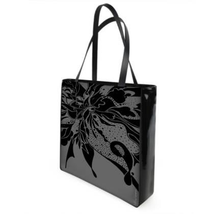 Shopper bag - Shopping väska - Black ink grey