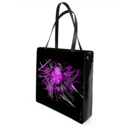 Shopper bag - Shopping väska - Lilac black and lila