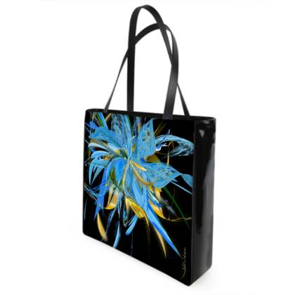 Shopper bag - Shopping väska - Golden blue black