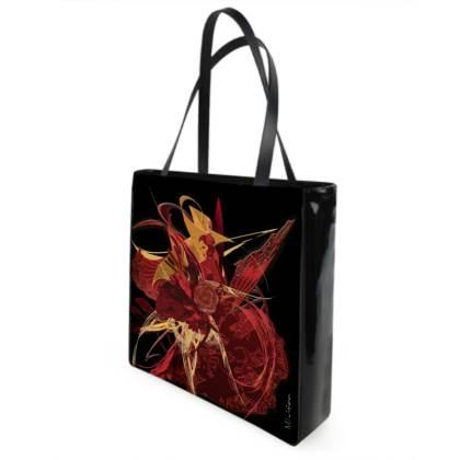 Shopper bag - Shopping väska - Flamenco black