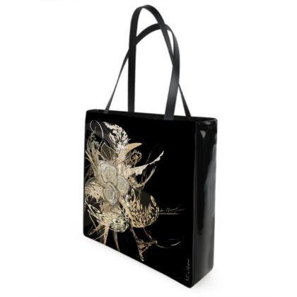 Shopper bag - Shopping väska - 50 shades of lace black and white
