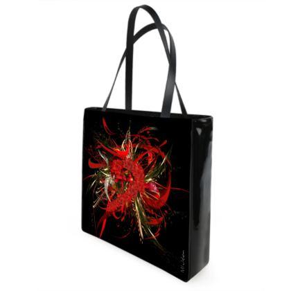 Shopper bag - Shopping väska - Christmas Mismatch black