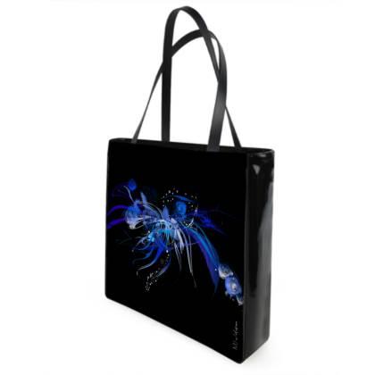 Shopper bag - Shopping väska - Blue black