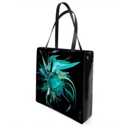Shopper bag - Shopping väska - Turquoise black