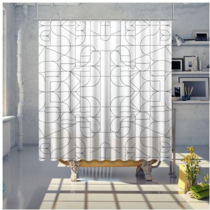 Shower curtain - Kaleidoscope lines
