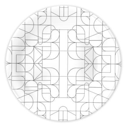 China Plates - Kaleidoscope lines