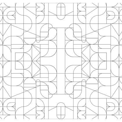 Serving Platter - Kaleidoscope Lines