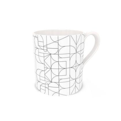 Bone China Mug - Kaleidoscope Lines