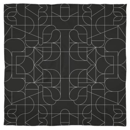 Scarf - Kaleidoscope Black and White