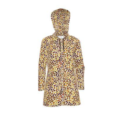 Leopard Skin Collection Womens Hooded Rain Mac