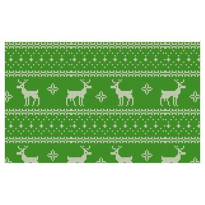 4 Pack - Christmas Jumper Face Mask GREEN