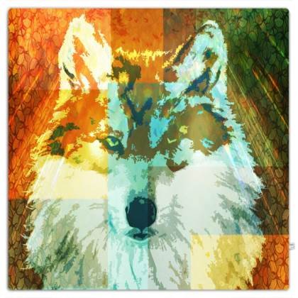 Mexican Grey Wolf Throw