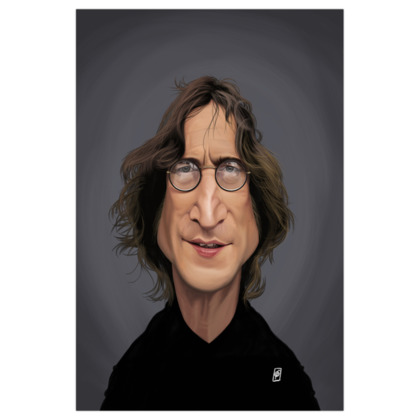 John Lennon Celebrity Caricature Art Print