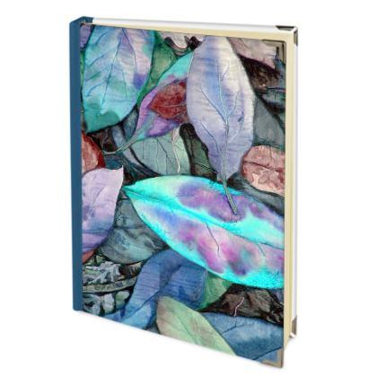 Leaf Print Adress Book