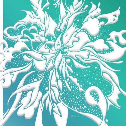 Big Trays - Stora brickor - White ink turquoise