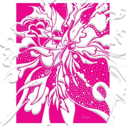 Big Trays - Stora brickor - White ink pink
