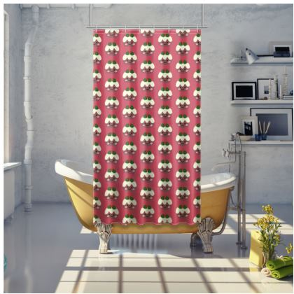 Christmas Pudding 1 Shower Curtain