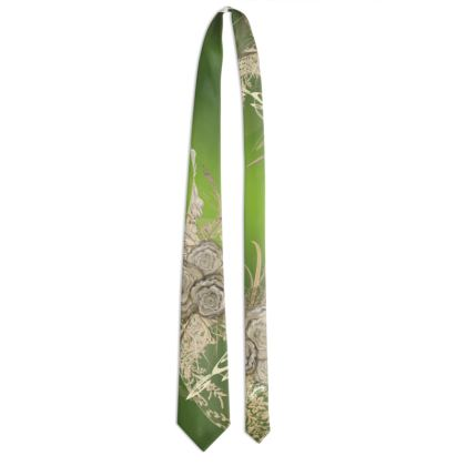 Tie - Slips - 50 SHADES OF LACE GREEN GRADIENT