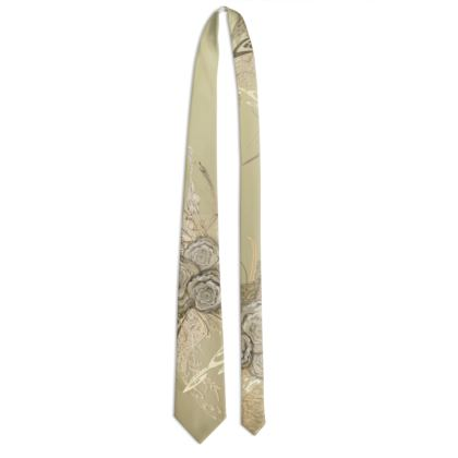 Tie - Slips - 50 shades of lace brown gradient