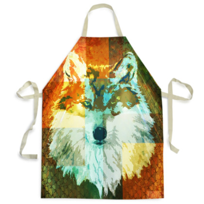 Mexican Grey Wolf Mens Apron