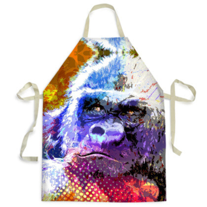 Mountain Gorilla Mens Apron