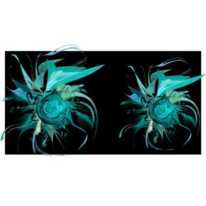 Big Bolster Cushion – Stor avlång bolster kudde -  Turquoise black