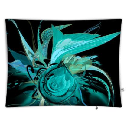 Floor Cushion - Golvkudde - Turquoise black