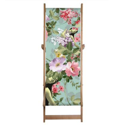 Single Deckchair Replacement Sling Flora