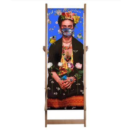 Single Deckchair Replacement Sling Lockdown Frida Blue