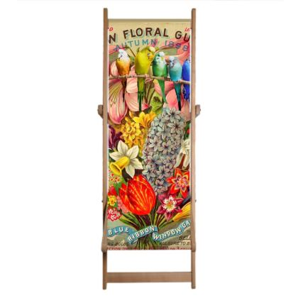 Single Deckchair Replacement Sling New Floral Guide