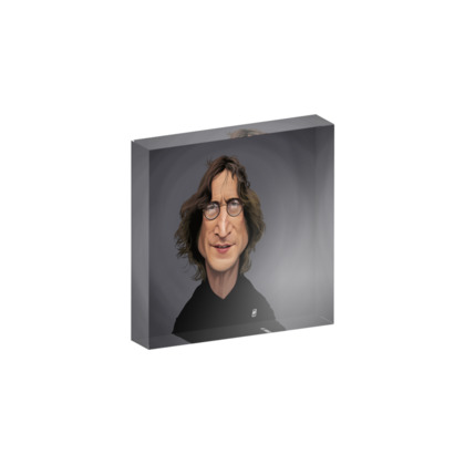 John Lennon Celebrity Caricature Acrylic Photo Blocks