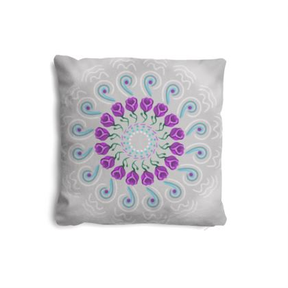 Spiral Tulips Suede High Quality Cushions