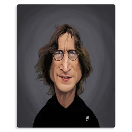 John Lennon Celebrity Caricature Metal Print