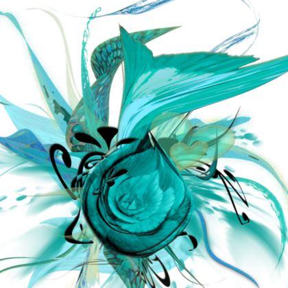 Cushion - Kudde - Turquoise white