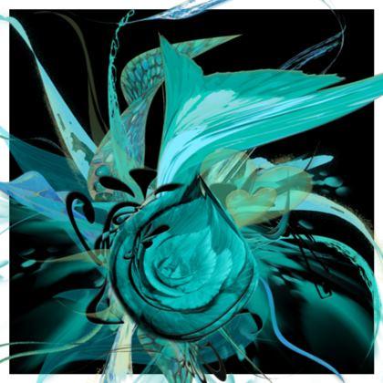 Cushion - Kudde - Turquoise black