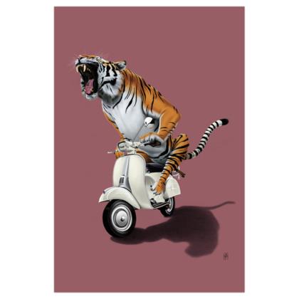 Rooooaaar! ~ Colour Animal Behaviour Art Print