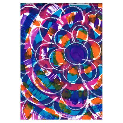 Expressive Floral Double Deckchair