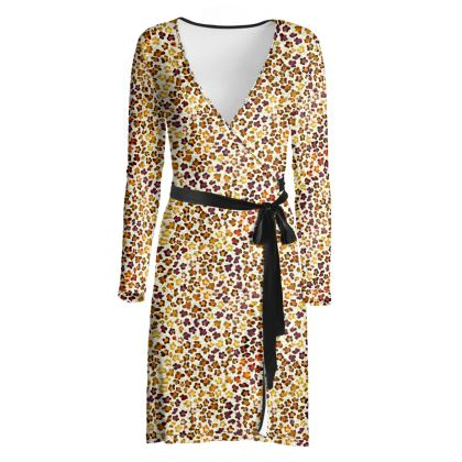Leopard Skin Collection Wrap Dress