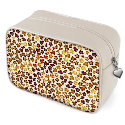 Leopard Skin Collection Wash Bags